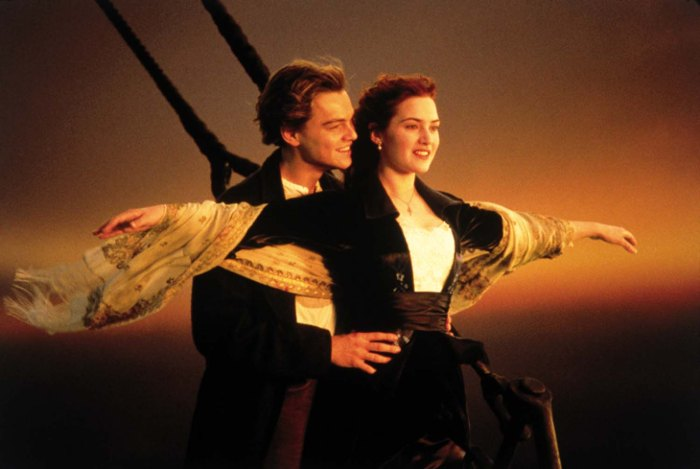 FILE - In this image released by Paramount Home Entertainment, Kate Winslet and Leonardo DiCaprio are shown in a scene from,